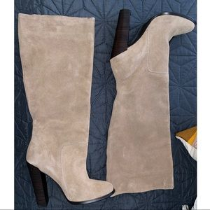 Colin Stuart Suede Leather Knew High Boots